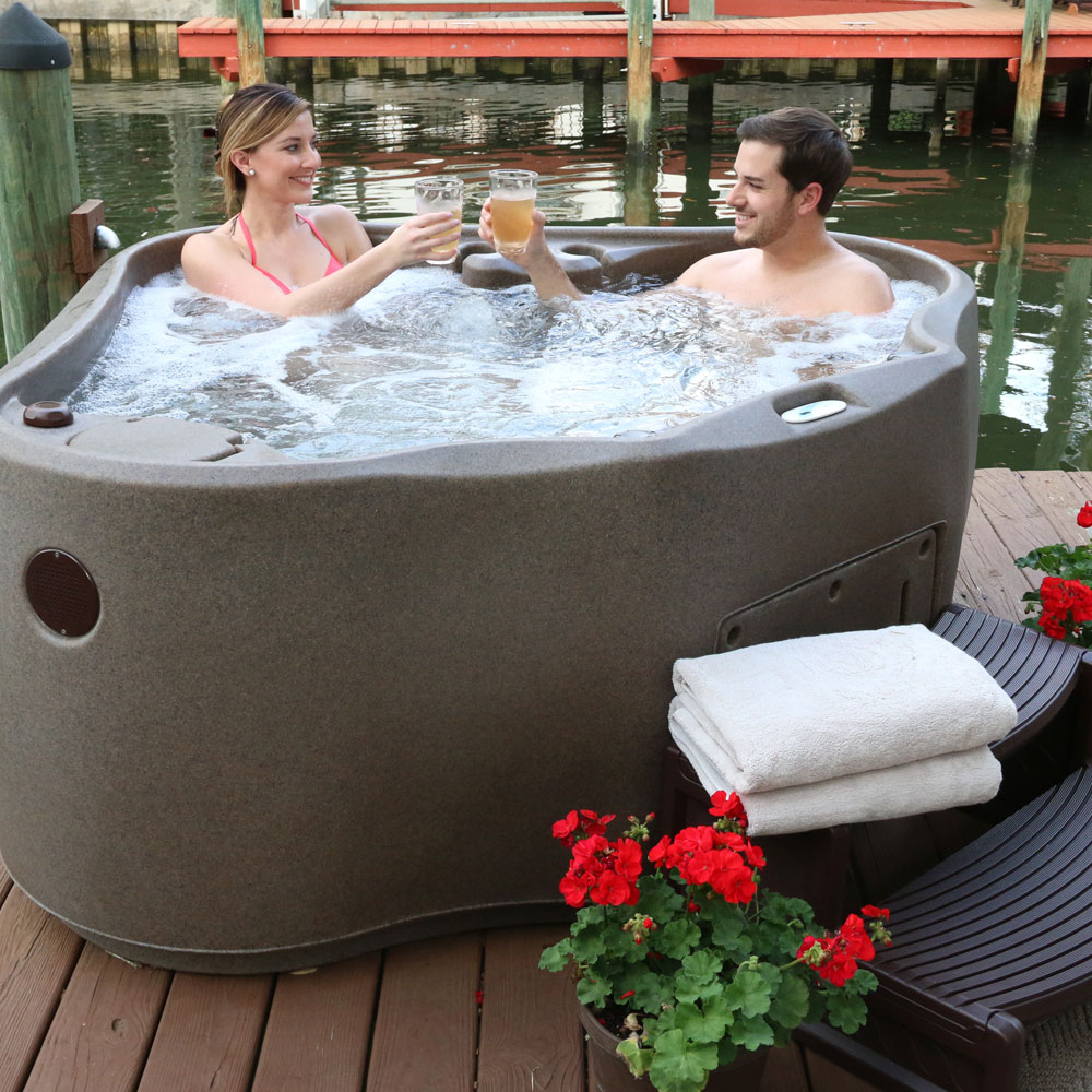 2 person hot tub with massage jets aquarest spas. Black Bedroom Furniture Sets. Home Design Ideas